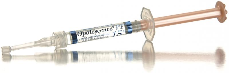 We offer custom take home whitening trays with Opalescence refills.
